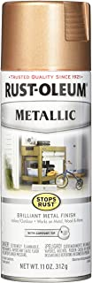 Rust-Oleum 286564 Stops Rust Metallic Spray Paint, 11 oz, Rose Gold