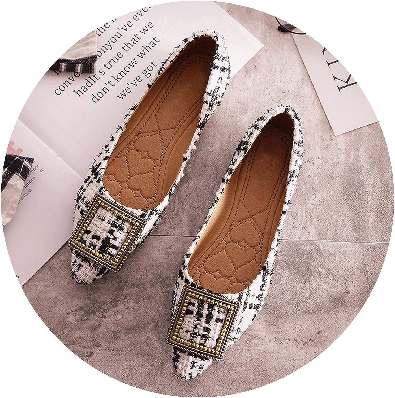 Fashion Boat shoes Women Pointed Toe Office Ladies Flat Footwear Elegant Women's Flats Luxury Brand Plus Size 10 A057