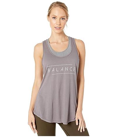 good hYOUman Estelle Balance Tank (Charcoal) Women