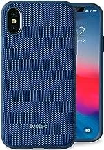 Evutec Compatible with iPhone X & Xs Unique Heavy Duty Case Ballistic Nylon Premium Protective Military Grade Drop Tested Shock Proof Phone Cover with AFIX+ Vent Mount - Blue