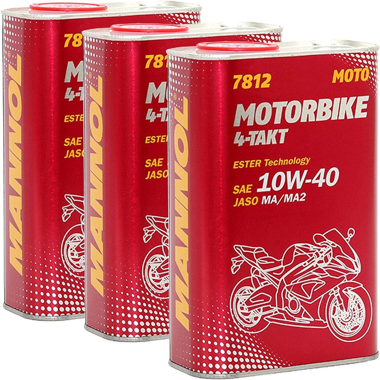 X 1 Litre Mannol 7812 Motorbike 4 Stroke Api Sl Jaso Ma Ma2 10 W 40 Engine Oil Motorcycles Bikes Auto