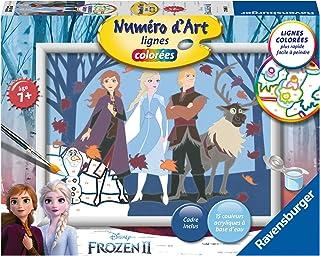 Ravensburger – Numéro d'art – moyen format – Disney La Reine des Neiges 2, Anna et ses amis – loisir créatif – peinture – ...