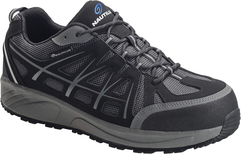Nautilus Safety Footwear Men's N2501 Industrial Oxford, Black, 10