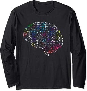 AI Artificial Machine Intelligence Modern Human Brain Mind Long Sleeve T-Shirt