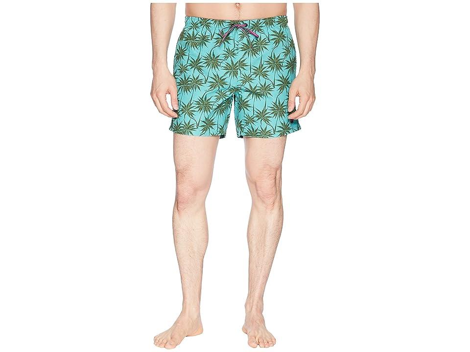 BOSS Hugo Boss Piranha Swim Trunk (Open Blue) Men
