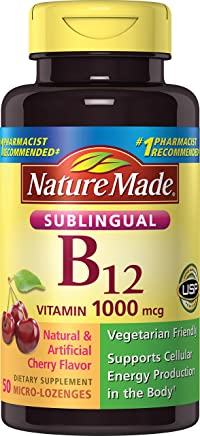 Nature Made Vitamin B-12 Sublingual Cherry 1000 Mcg - 50 Lozenges