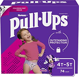 Pull-Ups Learning Designs Girls` Training Pants, 4T-5T, 74 Ct