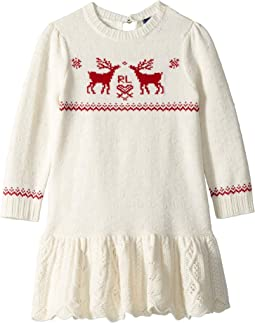 Reindeer Sweater Dress (Toddler)