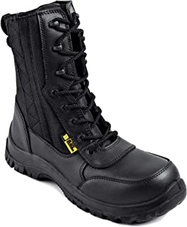 Black Hammer Mens Leather Composite Toe Cap Boot S2 SRC Waterproof Military Army Desert Combat Walking Safety Zip Up Work ...