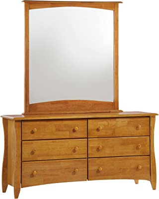 Night & Day Furniture Clove 6 Drawer Dresser in Medium Oak Finish