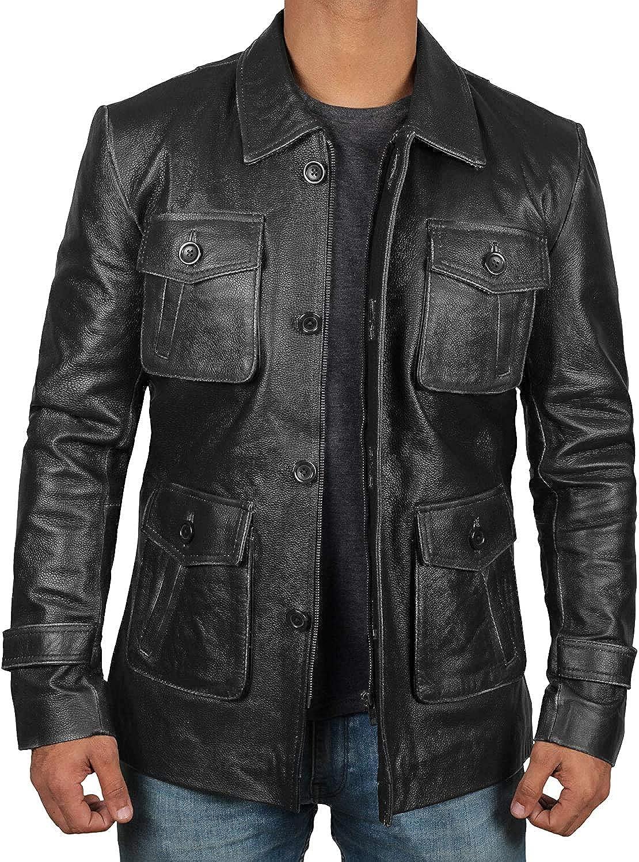 Fjackets Leather Jacket Men - Winter Car Coat For Mens