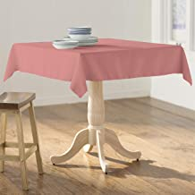 """LA Linen Square Tablecloth - 58 x 58"""" Inch-Square Table Cloth for 36"""" Table in Washable Polyester - Great for Intimate Din..."""