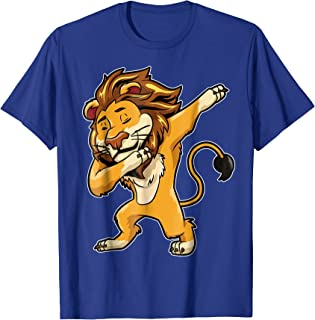 Dabbing Lion T Shirt Meme Print Dab Cat Dance T Shirt Lions