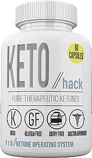 Keto Hack Capsules - Pure Therapeutic Ketones - Ketone Operating System - 30 Dose Supply