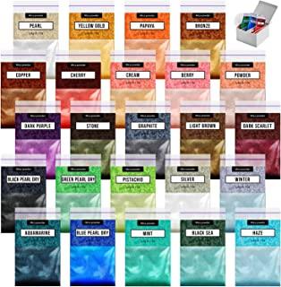 Epoxy Resin Dye - 24 Mica Powder for Epoxy Set - Epoxy Resin Color Pigment – Soap Dye - Cosmetic Pigment Powder - Slime Pi...
