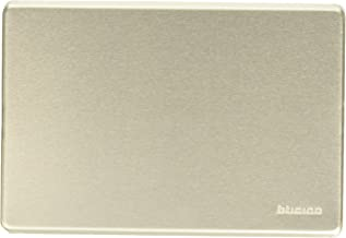 BTicino 503/0/X/F Magic Placca, blindkop, aluminium geanodiseerd, zilver