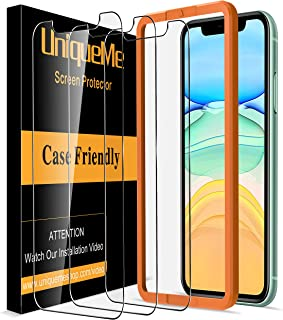 [3 Pack] UniqueMe Screen Protector for iPhone 11 and iPhone XR (6.1 inch) Tempered Glass,[Alignment Frame Easy Installatio...