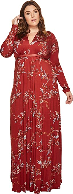 Rachel Pally - Plus Size Long Sleeve Full-Length Caftan WL Print