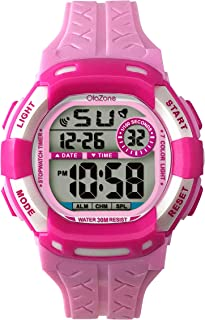 Kids Watches Girls Boys Digital 7-Color Flashing Light Water Resistant 100FT Alarm Gifts for Girls Age 7-10 485