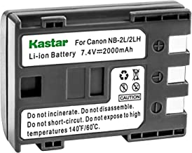 Kastar Battery for Canon NB-2LH NB-2L NB2LH NB2L BP2L and Canon Elura 85 90 MV800 800i 900 920 EOS 350D 400D PowerShot G7 G9 S70 S80 R100 R11 Camera