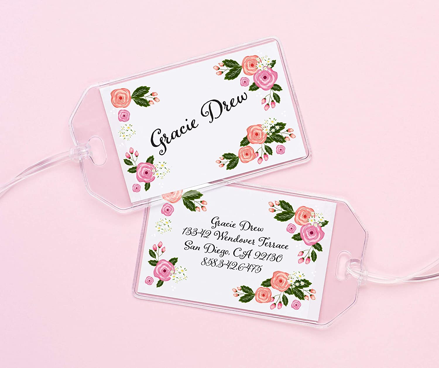 Personalized Clearance SALE! Limited time! Today's only Floral ID Tags for T Flowers Kids Custom Backpacks