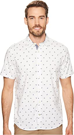 Nautica - Short Sleeve Shark Print Woven Shirt