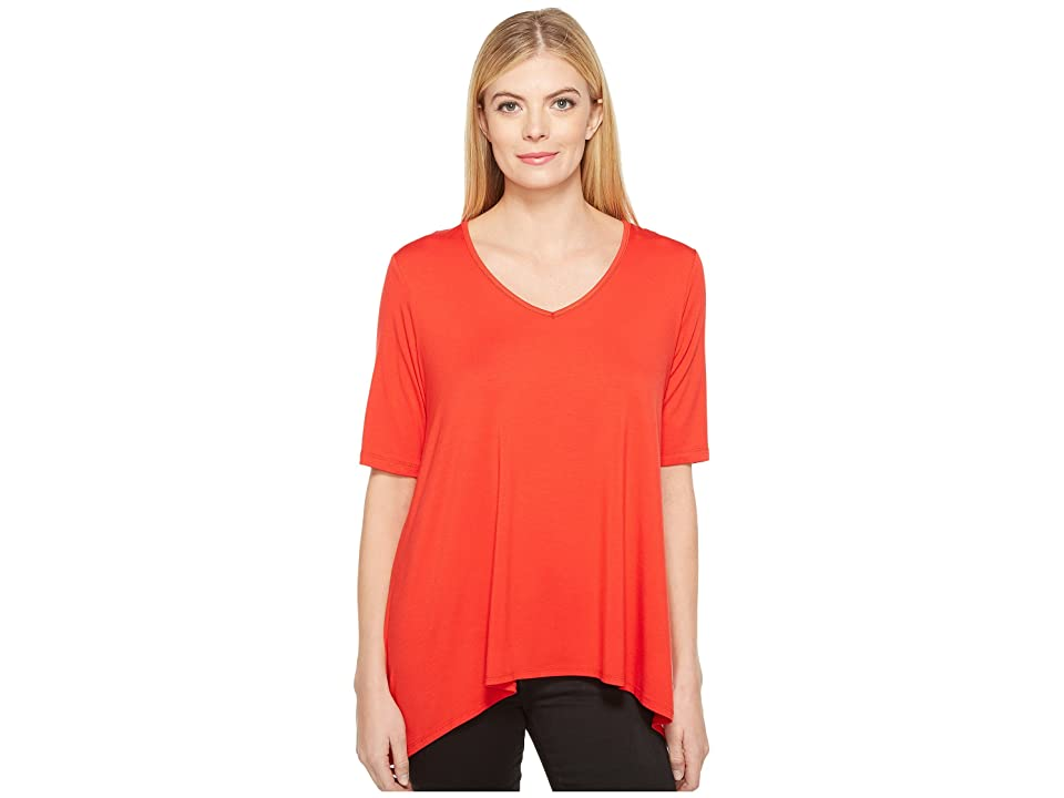 Karen Kane Short Sleeve Swing Top (Punch) Women