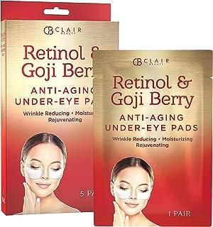 CLAIR BEAUTY Retinol & Goji Berry Anti Aging Under Eye Mask Patches - Moisturizing & Rejuvenating | Reduces Fine Lines & W...