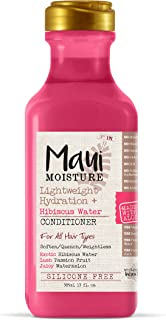 Maui Moisture Lightweight Hydration + Hibiscus Water Conditioner for Daily Moisture, No Sulfates, 13 oz
