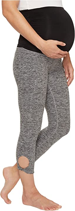 Beyond Yoga - Twist Cuff Maternity Capri Leggings