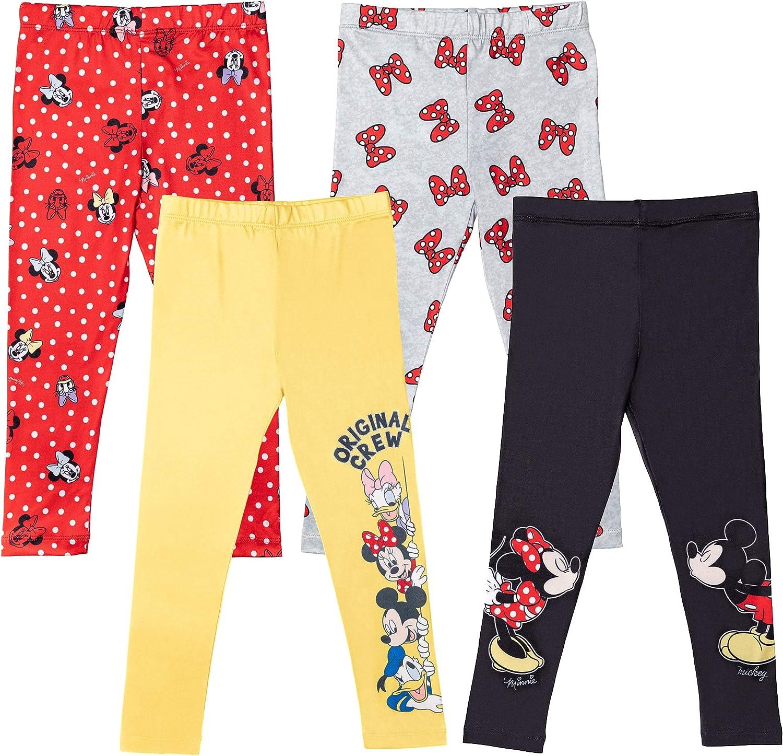 Disney Minnie Mouse Girls 4 Pack Leggings