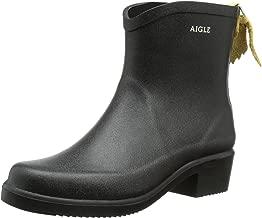 Aigle Womens Miss Juliette Bottillon Black Rubber Boots - 8 B(M) US Women