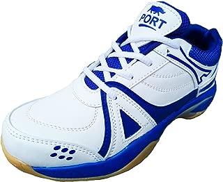 Port Men's White Benton Editon PU Badminton Shoes
