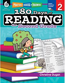 180 Days of Reading: Grade 2 - Daily Reading Workbook for Classroom and Home, Reading Comprehension and Phonics Practice, School Level Activities Created by Teachers to Master Challenging Concepts