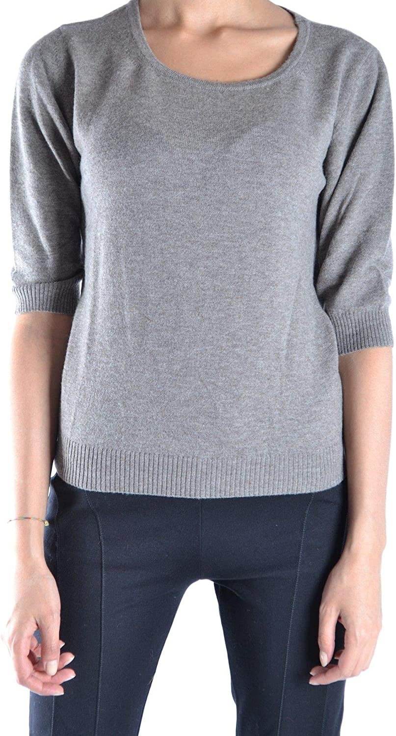 Original Vintage Women's MCBI15046 Grey Wool Sweater