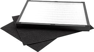 vhbw Luftfilter Set passend für Dirt Devil Pureza AC 250 Luftbefeuchter, Luftreiniger HEPA Filter, Aktivkohlefilter