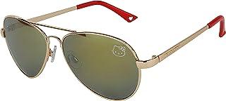 Womens Contemporary Hello Kitty Classic Aviator Sunglasses