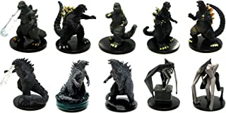 Official Godzilla Mini Figure Set of 10 Collectible Toys