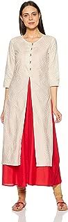 Amazon Brand - Myx Women's Cotton anarkali Salwar Suit Set
