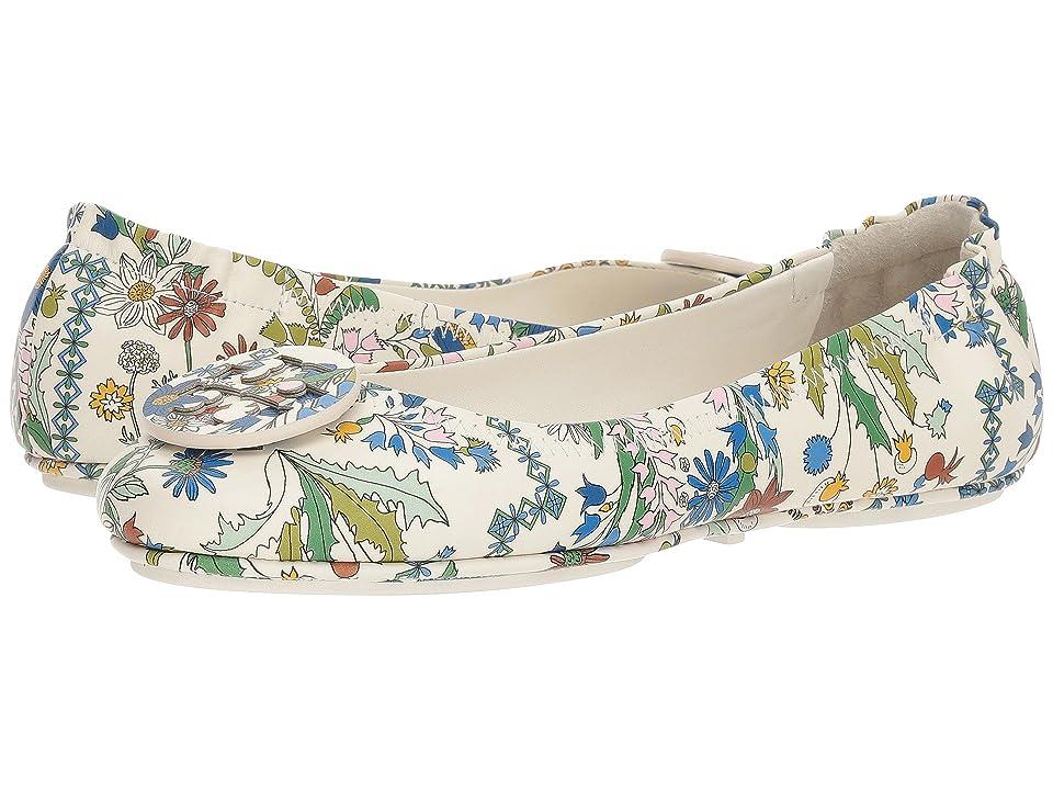 Tory Burch Minnie Travel Ballet Flat (Ivory/Meadow Sweet) Women