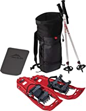 MSR Evo Trail Snowshoe Kit with Trekking Poles and Seat-Cushion Backpack