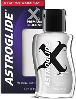 Astroglide X Premium Silicone Based Lubricant - Extremely Long-Lasting Lube - Silky Lubricant Formula Perfect for Keeping ...