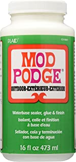Mod Podge Waterbase Sealer, Glue and Finish for use Outdoors (16-Ounces), , White