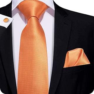 Hi-Tie Pure Color Necktie Solid Tie Pocket Square Cufflinks Set Wedding Ties Gift Box