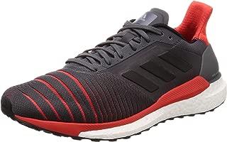 adidas Solar Glide Mens Fitness Running Trainer Shoe Grey/Red