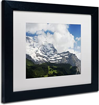 Peace in Switzerland Artwork Philippe Sainte-Laudy in White Matte and Black Frame, 11 by 14-Inch