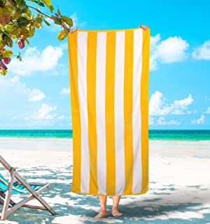 Best yellow striped towel Reviews