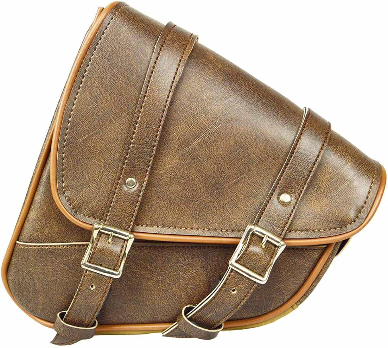 Motorcycle TAN Color SADDLEBAG Durable 1 year warranty Chrome Proof Today's only Water PVC