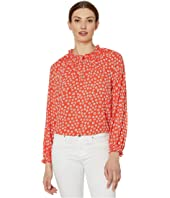 Long Sleeve Daisy Melody Blouse with V-Neck