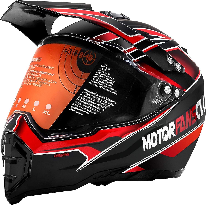 MotorFansClub trend rank Motorcycle Modular Full Off-Road Dirt Fort Worth Mall Helmet Face